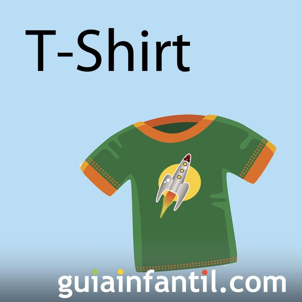 Camiseta en inglés. Aprende las prendas de vestir en inglés
