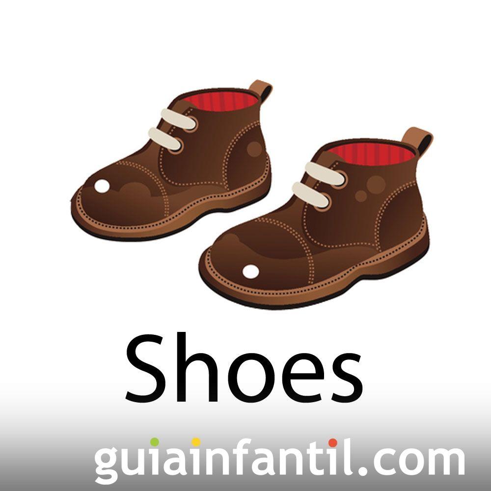 Zapatos en inglés. Aprende palabras en inglés