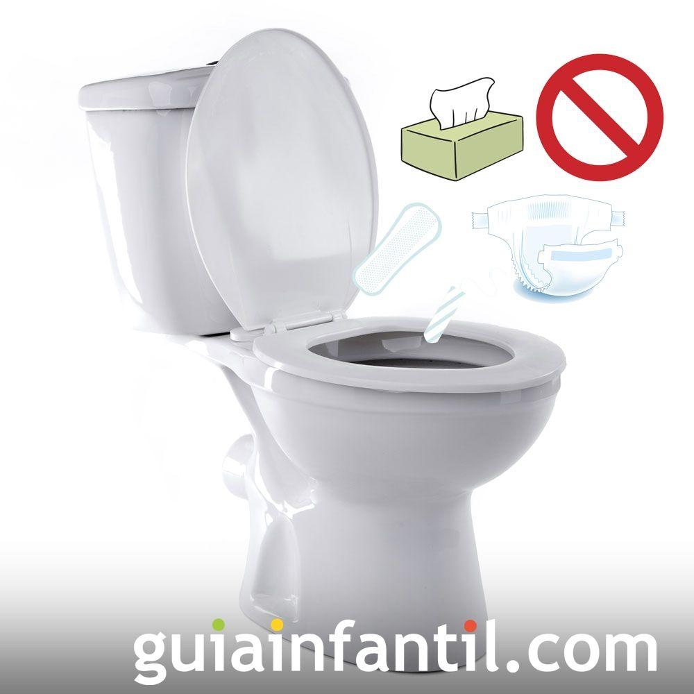 No tirar toallitas al wc. Errores a la hora de reciclar