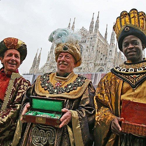 Los Reyes Magos en la catedral de Milán