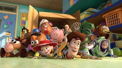 Woody y  Buzz en Toy Story 3