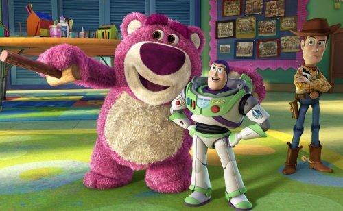 El oso de peluche rosa de Toy Story 3