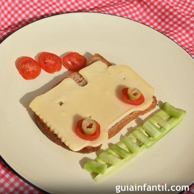 Un trenecillo para decorar el plato del los niños