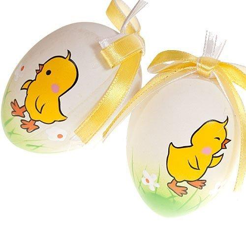 Decorar el huevo de Pascua con pollitos