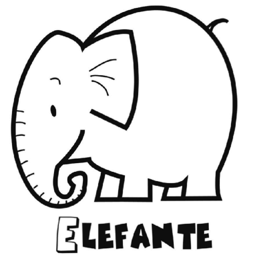 Dibujo para imprimir de elefante