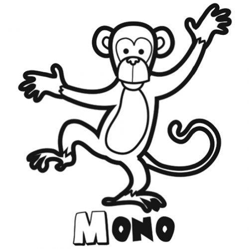 Dibujo de mono trepador para imprimir  Dibujos para colorear de