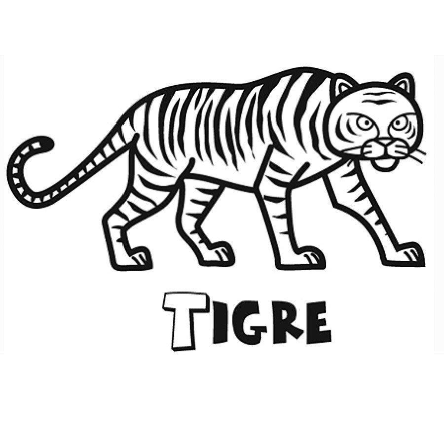 Dibujo De Tigre Para Niños