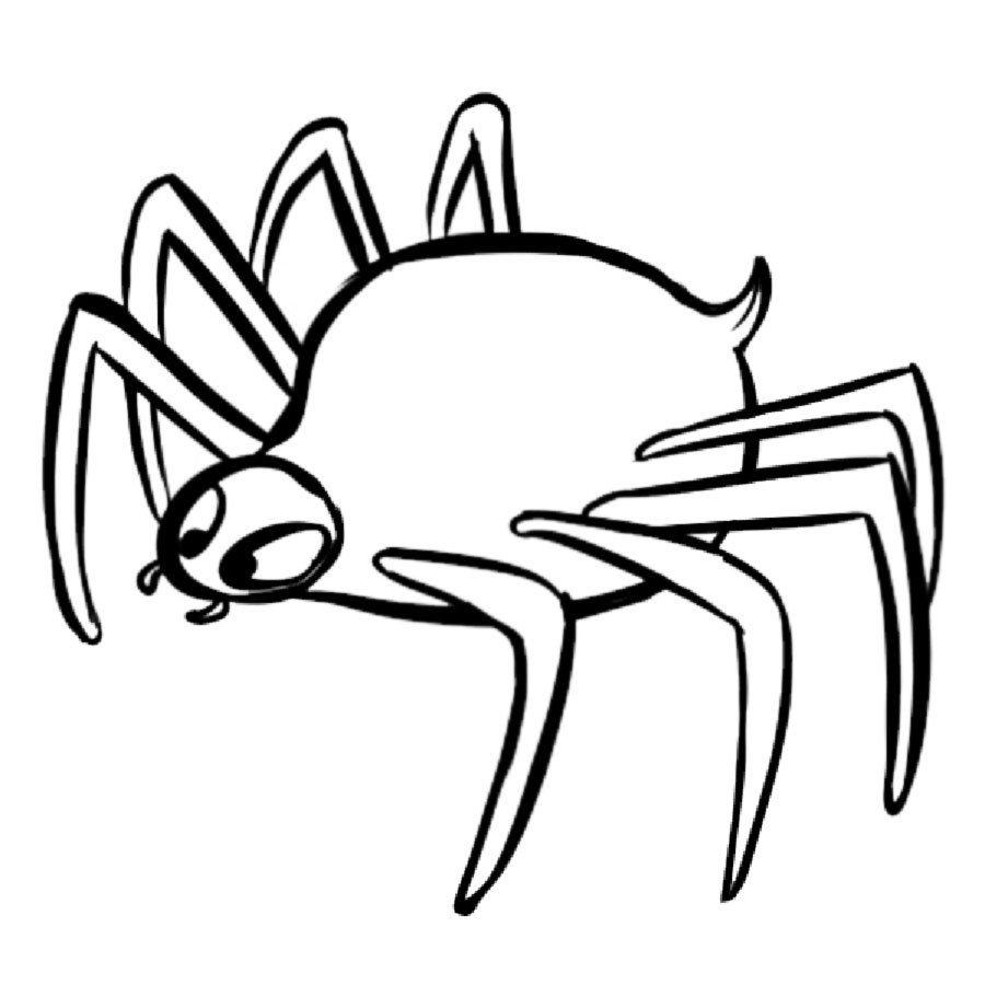 Dibujo infantil de araña del bosque