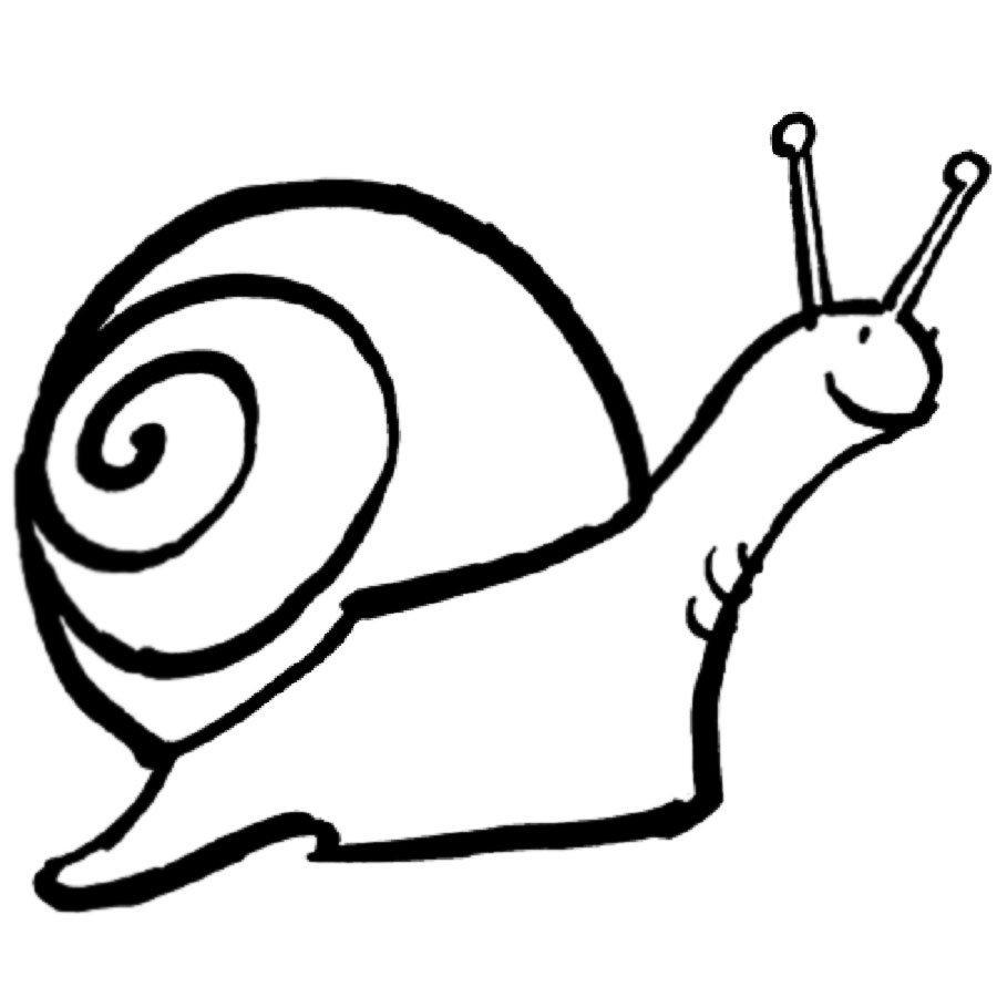 Dibujo infantil de caracol