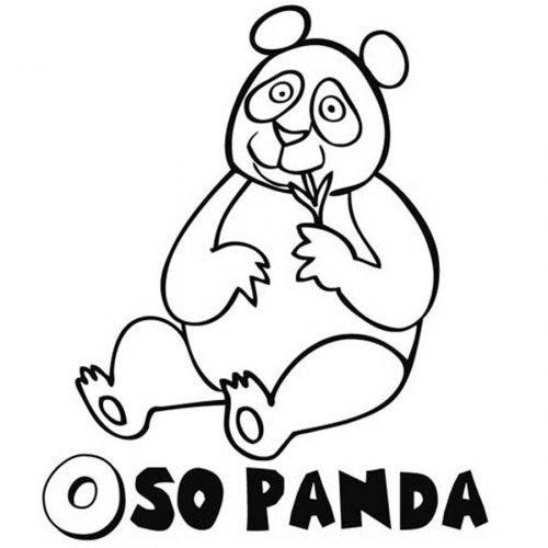 Dibujo de Oso Panda para pintar  Dibujos para colorear de