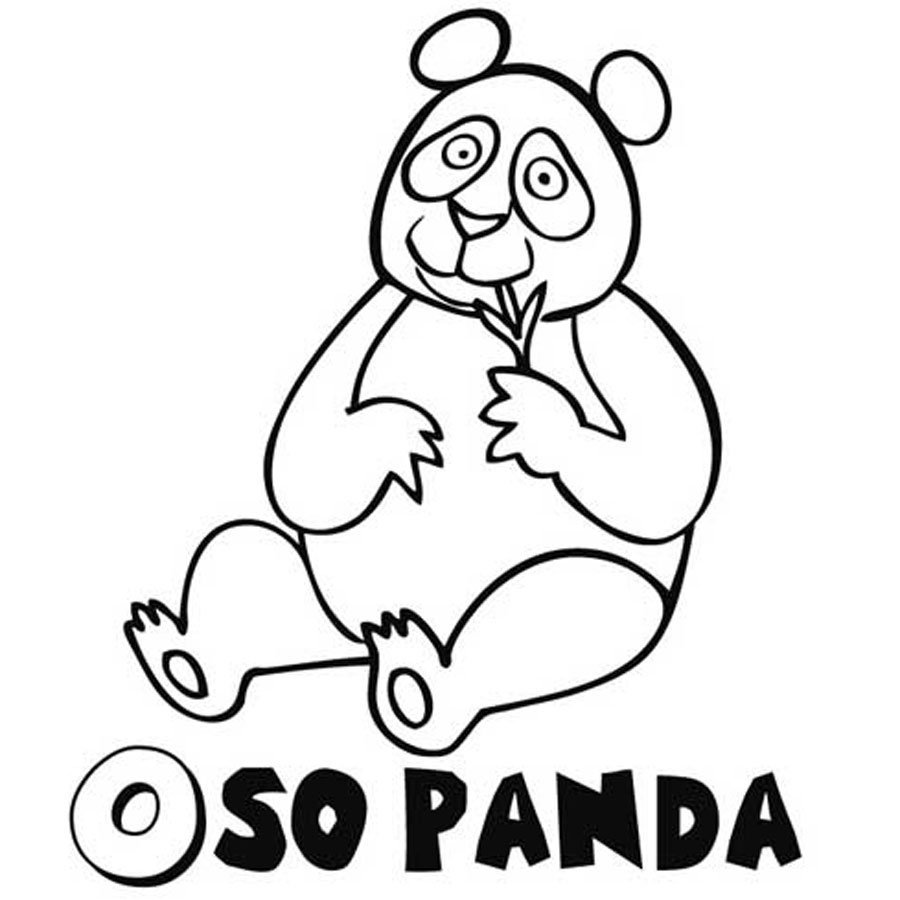 Imprimir Dibujo de Oso Panda para pintar  Dibujos para colorear