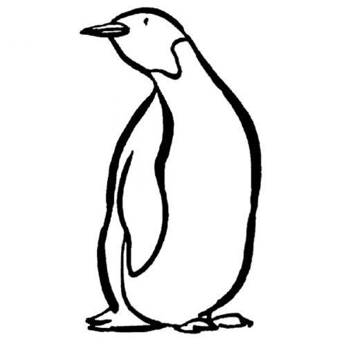 Dibujo para imprimir y pintar de un pingüino