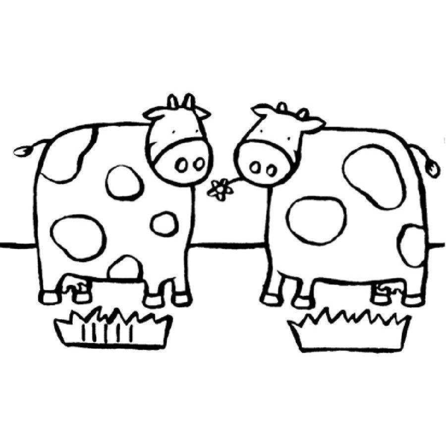 Imprimir dibujo para colorear de unas vacas dibujos para - Dibujos unas de porcelana ...