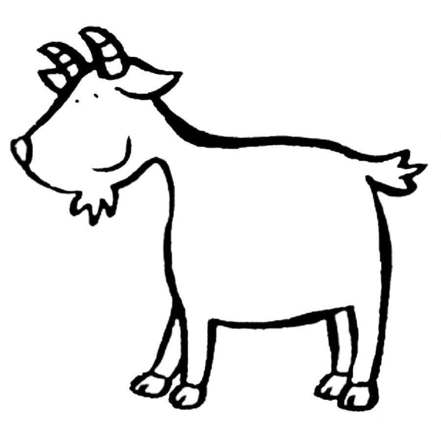 Dibujo de cabra para colorear