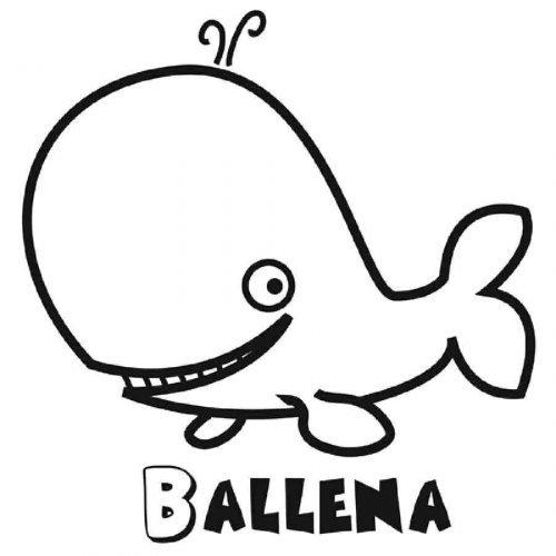 Dibujo para colorear de una ballena