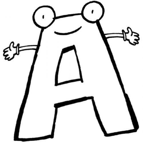 Dibujo para colorear de la letra A