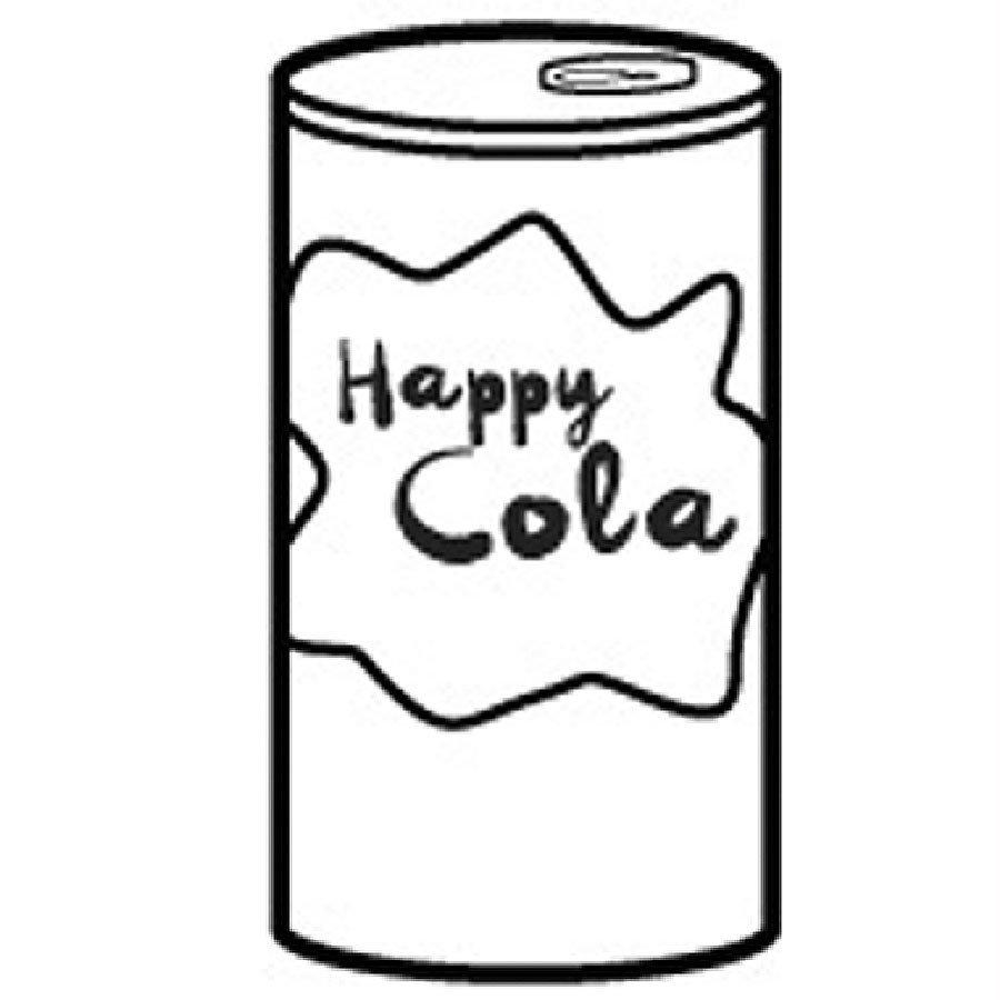 Dibujo de lata de refresco para pintar