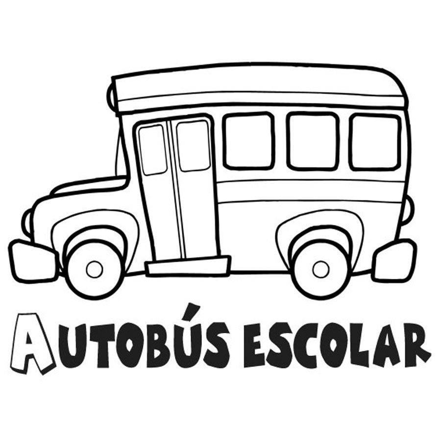 Dibujo De Un Autobús Escolar Para Pintar