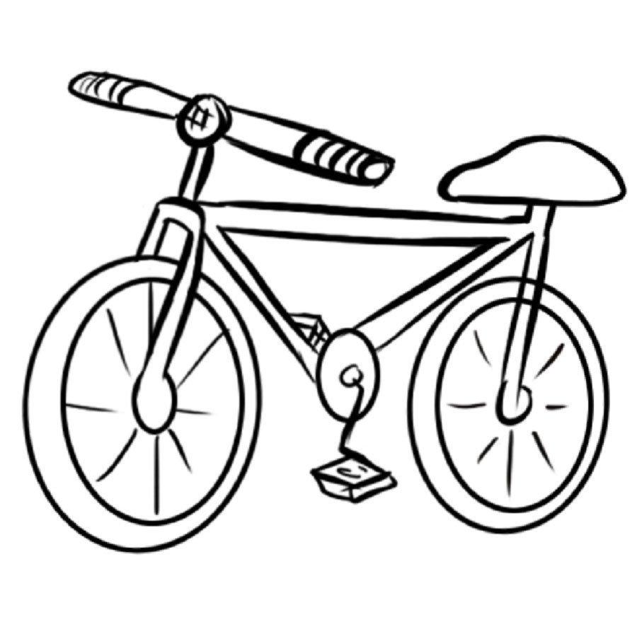 Imprimir dibujo de una bicicleta para colorear dibujos - Dibujos para pintar en tejas ...