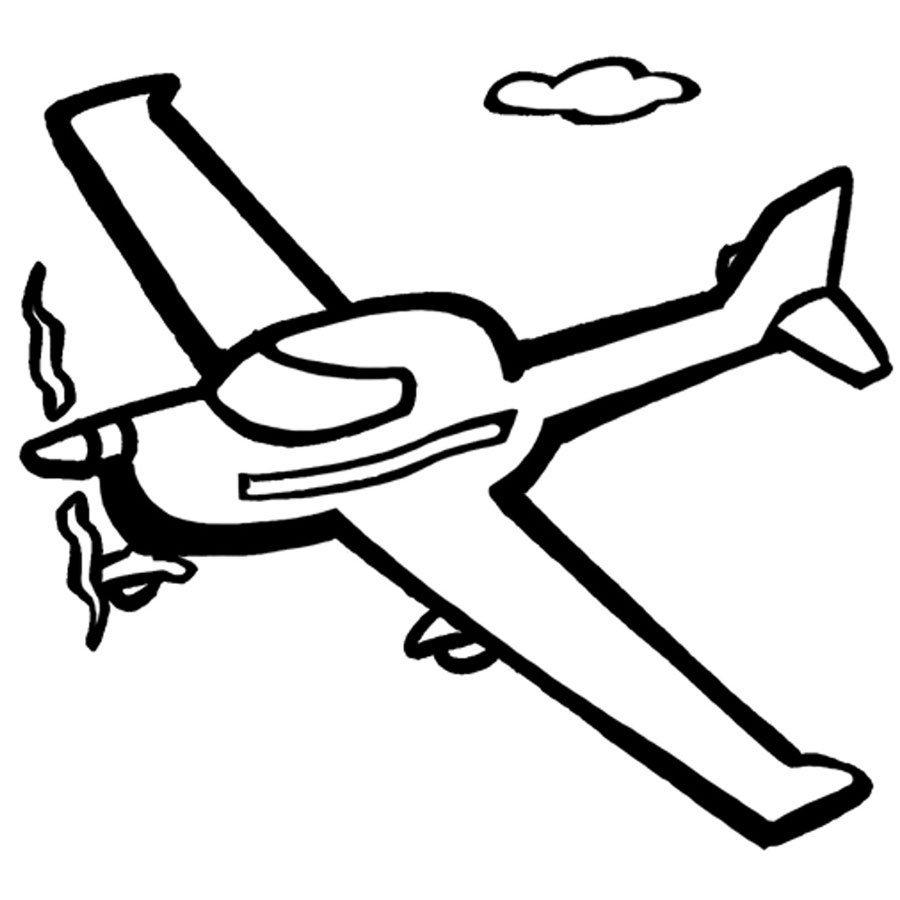 Dibujo para imprimir y colorear de una avioneta
