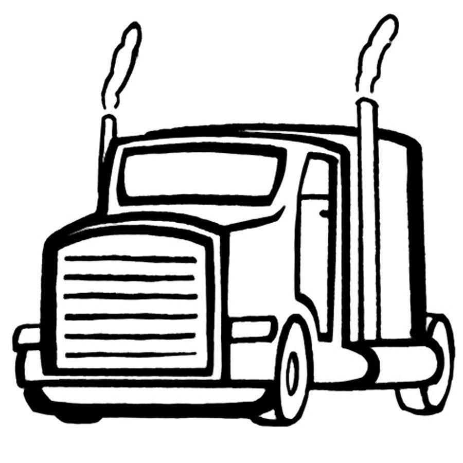 Dibujo De Un Camión Para Imprimir Y Colorear