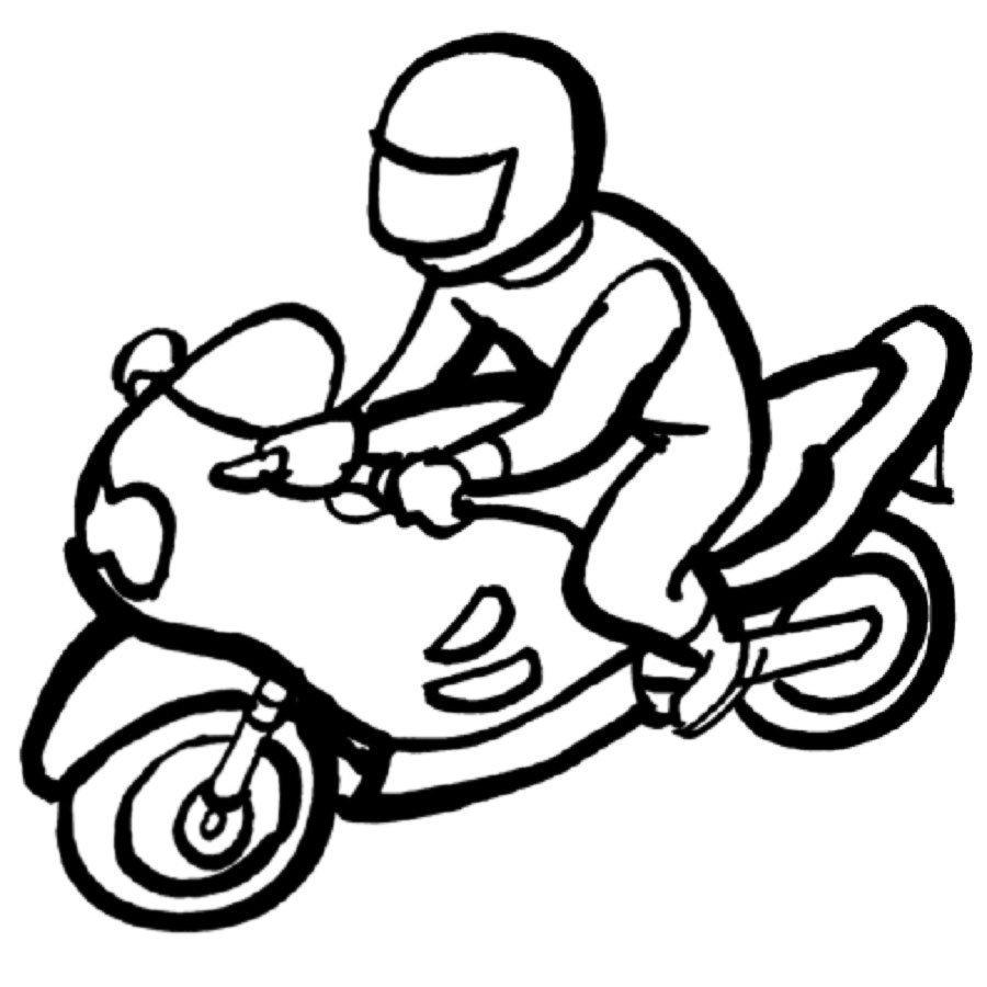 Dibujo para pintar de una moto