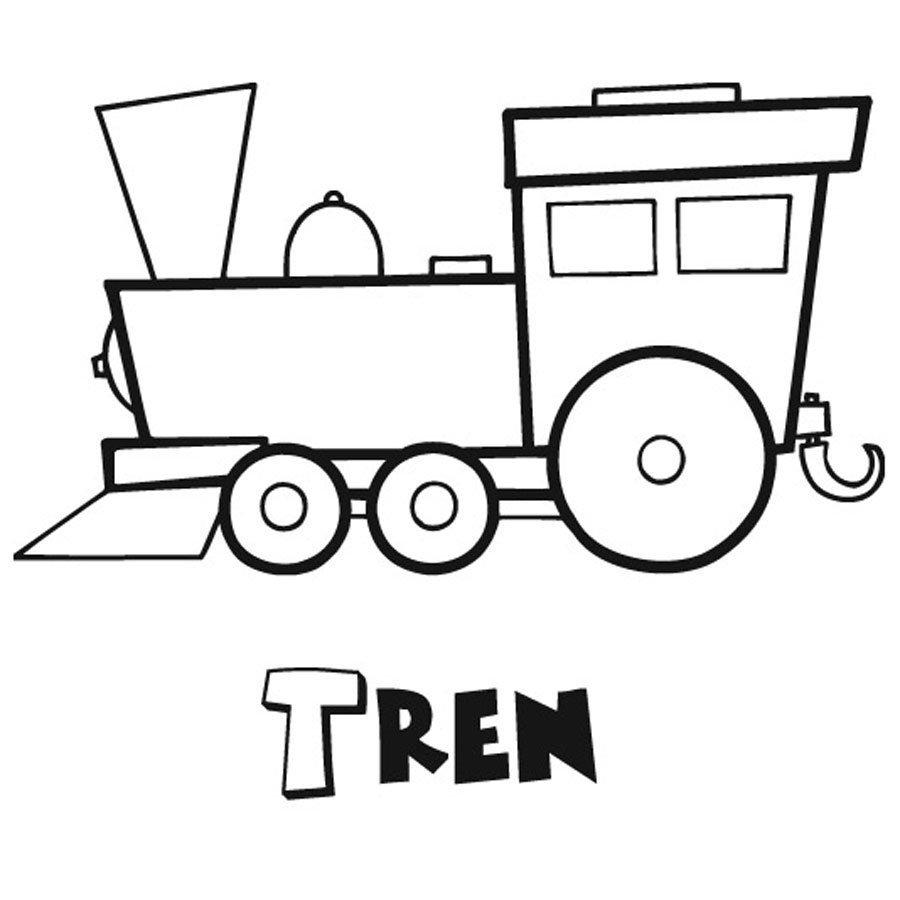 Dibujo Para Imprimir Y Colorear Un Tren