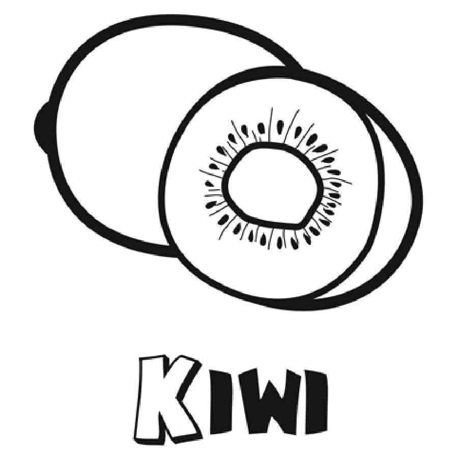 Imprimir Dibujo de kiwi para colorear  Dibujos para colorear de