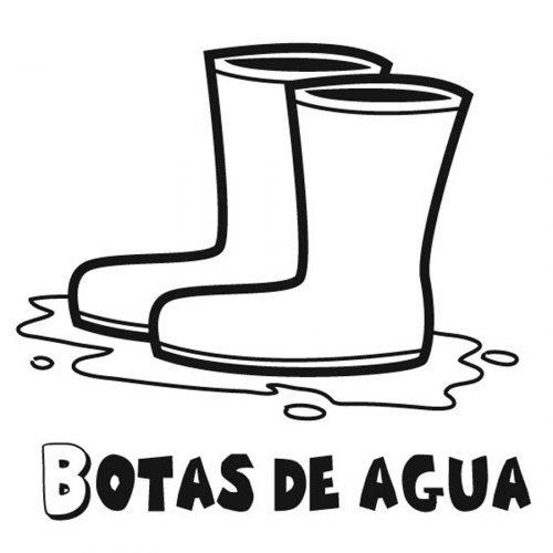 Dibujo para pintar de botas de agua  Dibujos para colorear de zapatos