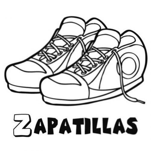 Dibujo de zapatillas deportivas para colorear  Dibujos para