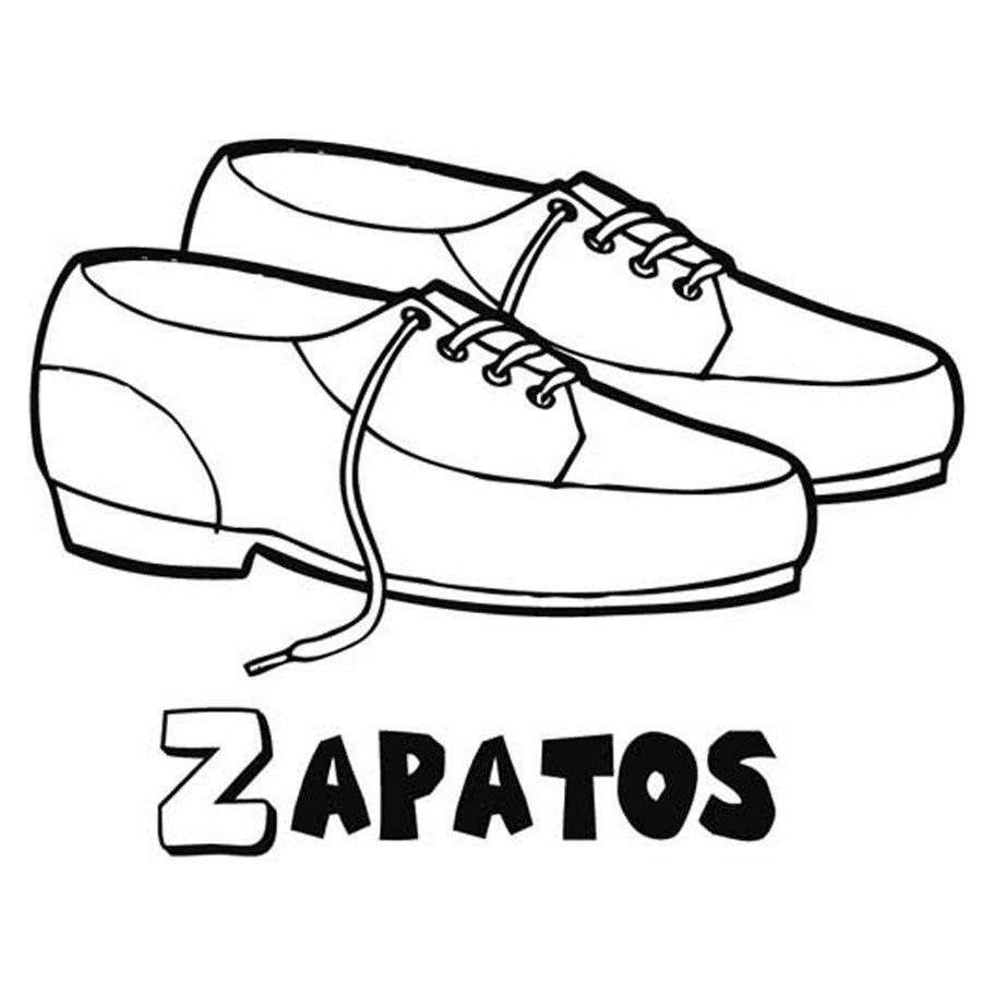 Dibujo para pintar de zapatos de cordón