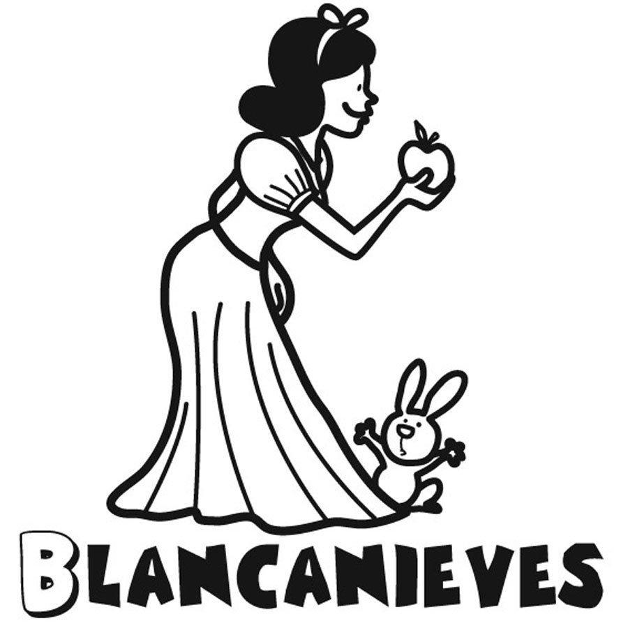 Dibujo de Blancanieves para imprimir y pintar
