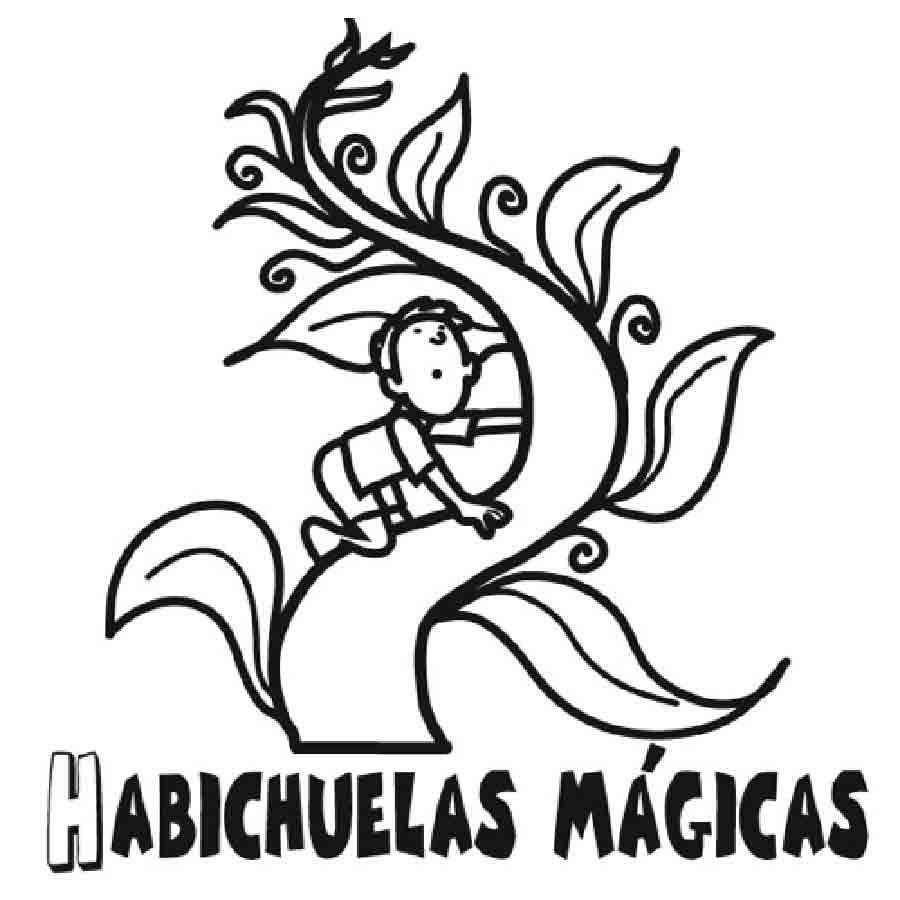 Dibujo para pintar de Juan y las Habichuelas Mágicas