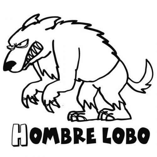 Dibujo del lobo feroz para imprimir y colorear  Dibujos para