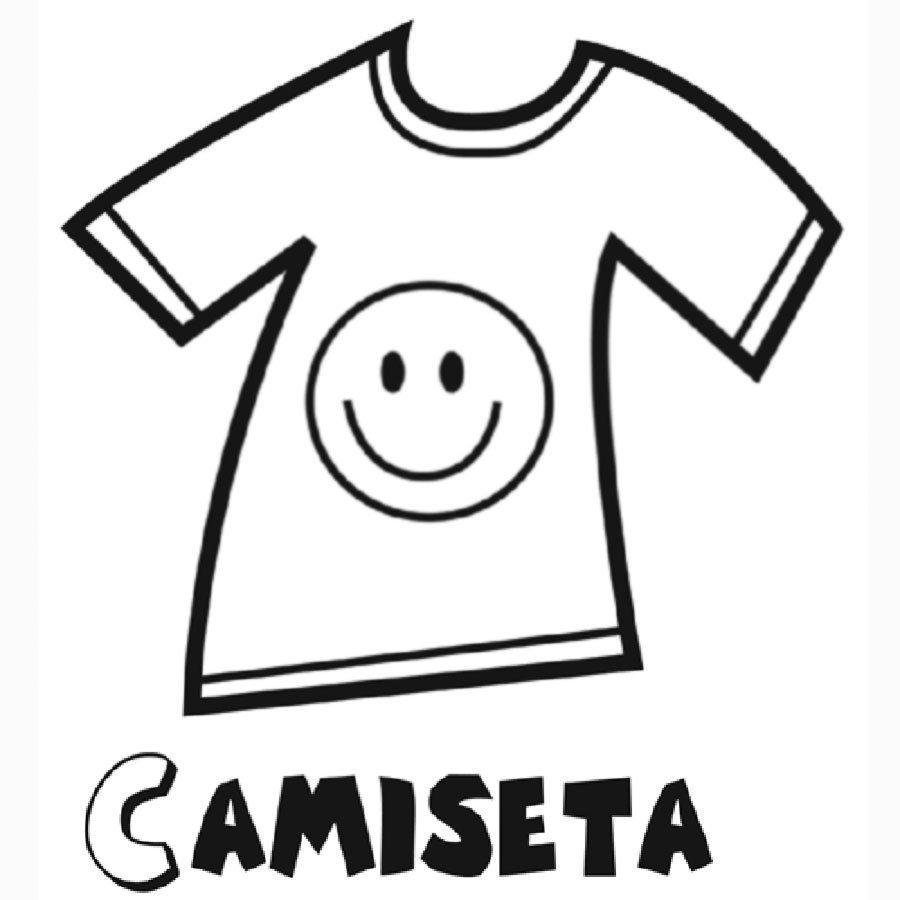 Dibujo para colorear de una camiseta