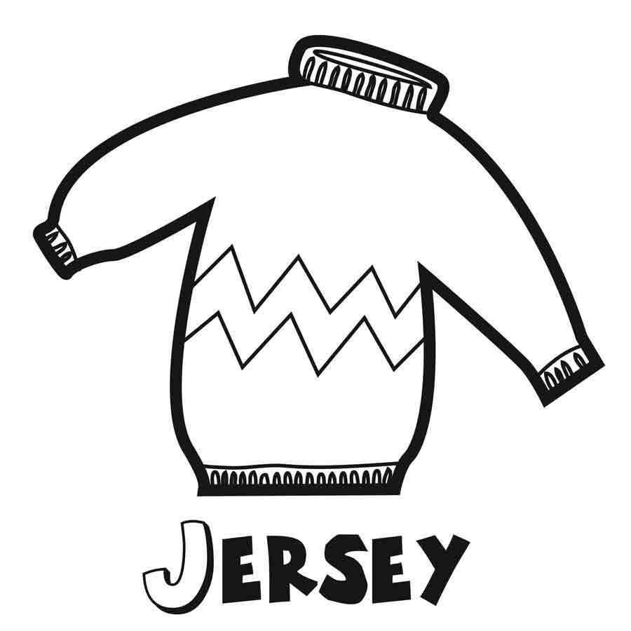Dibujo para imprimir y colorear un jersey