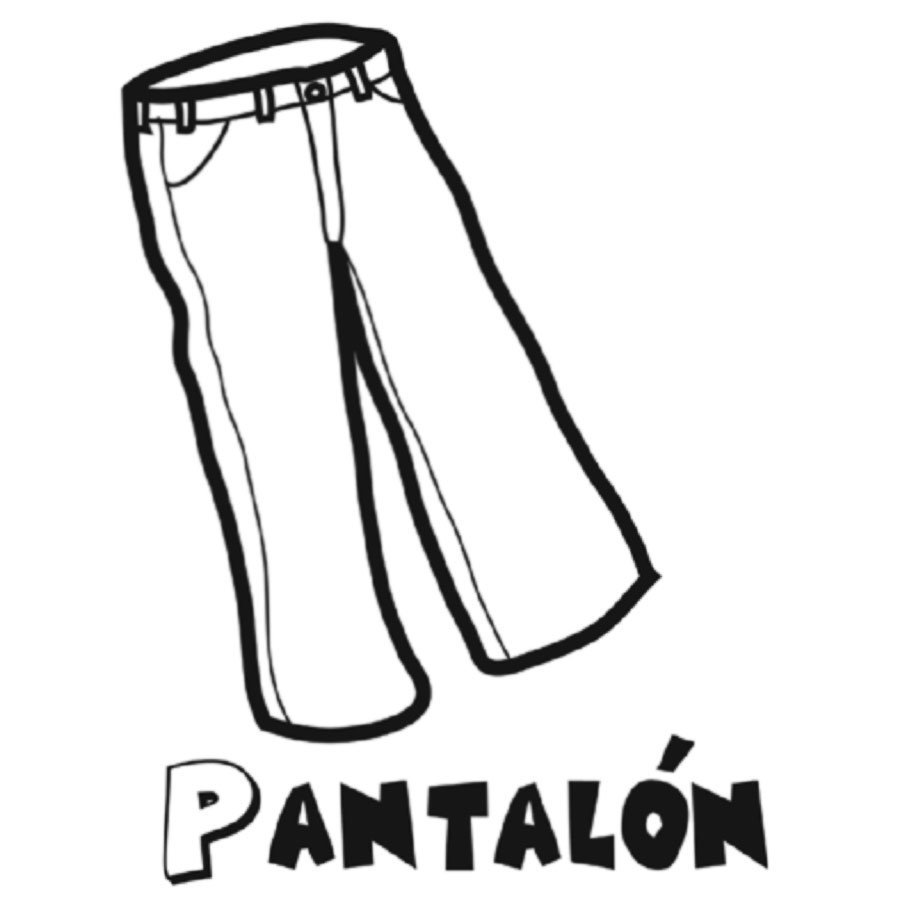 Dibujo De Un Pantalón Para Colorear