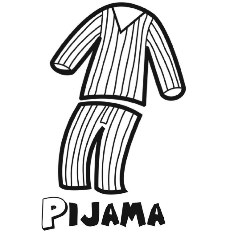 Dibujo de un pijama para imprimir y pintar