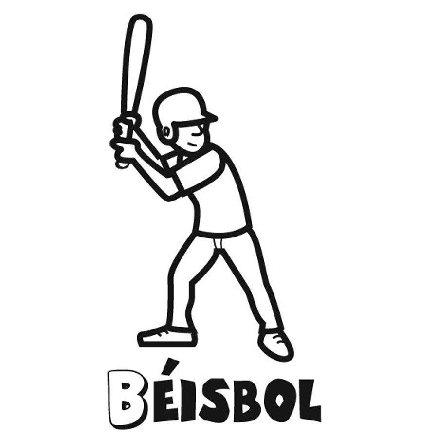 Dibujo para imprimir y pintar de béisbol