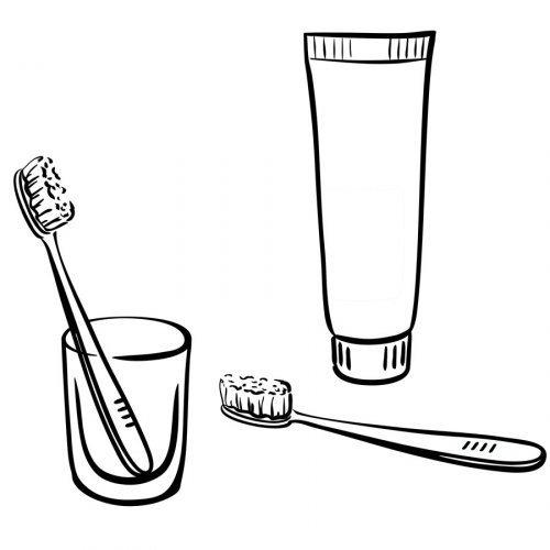 dibujo de cepillo y pasta de dientes para colorear - dibujos para ... - Imagenes De Un Bano Para Colorear