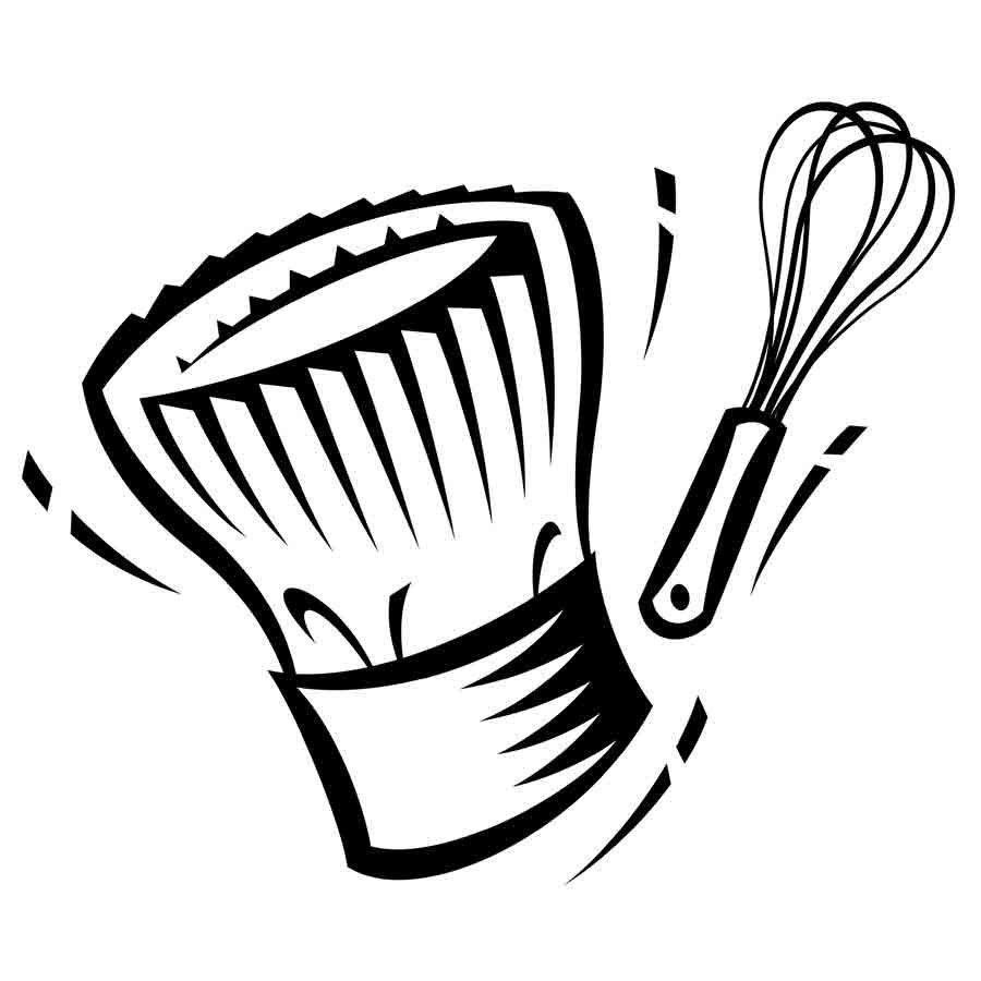 Dibujo De Un Gorro De Cocina Para Imprimir Y Colorear