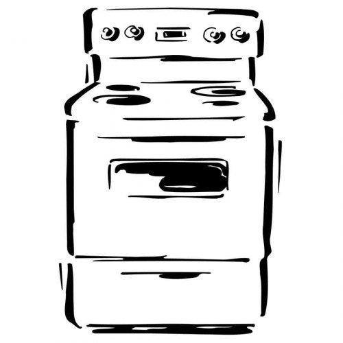 Dibujo para imprimir y pintar de un horno for Dibujos de cocina