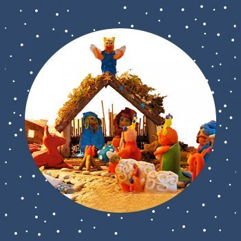 Belén de plastilina. Manualidades navideñas para niños