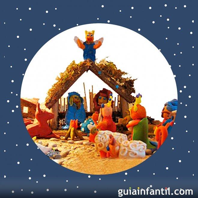 Belén De Plastilina Manualidades Navideñas Para Niños