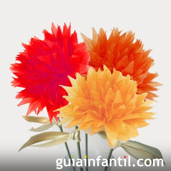 Flores En Papel Crepe Manualidades Para Ninos