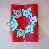 Tarjeta de flores del Día del Padre para niños