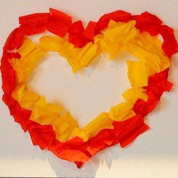 Tarjeta con forma de corazón