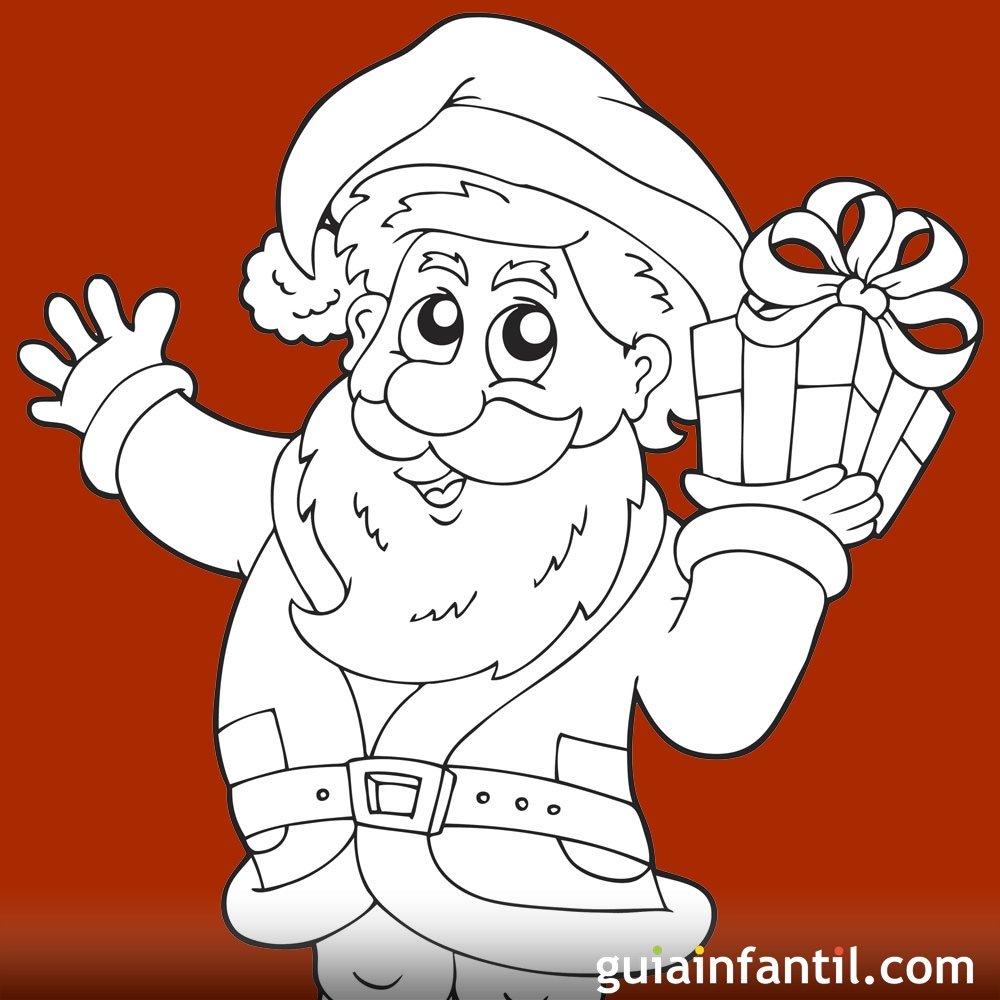 Dibujos De Papá Noel Para Colorear