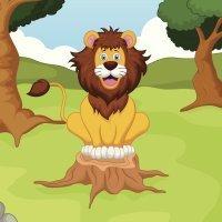 El león que iba a la guerra. Fábula de La Fontaine