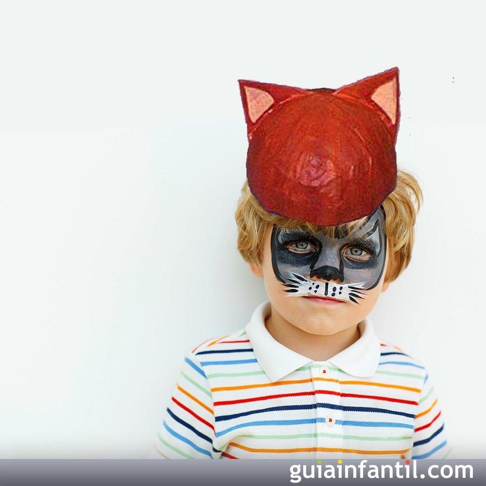 Sombrero de gato. Manualidad de papel maché